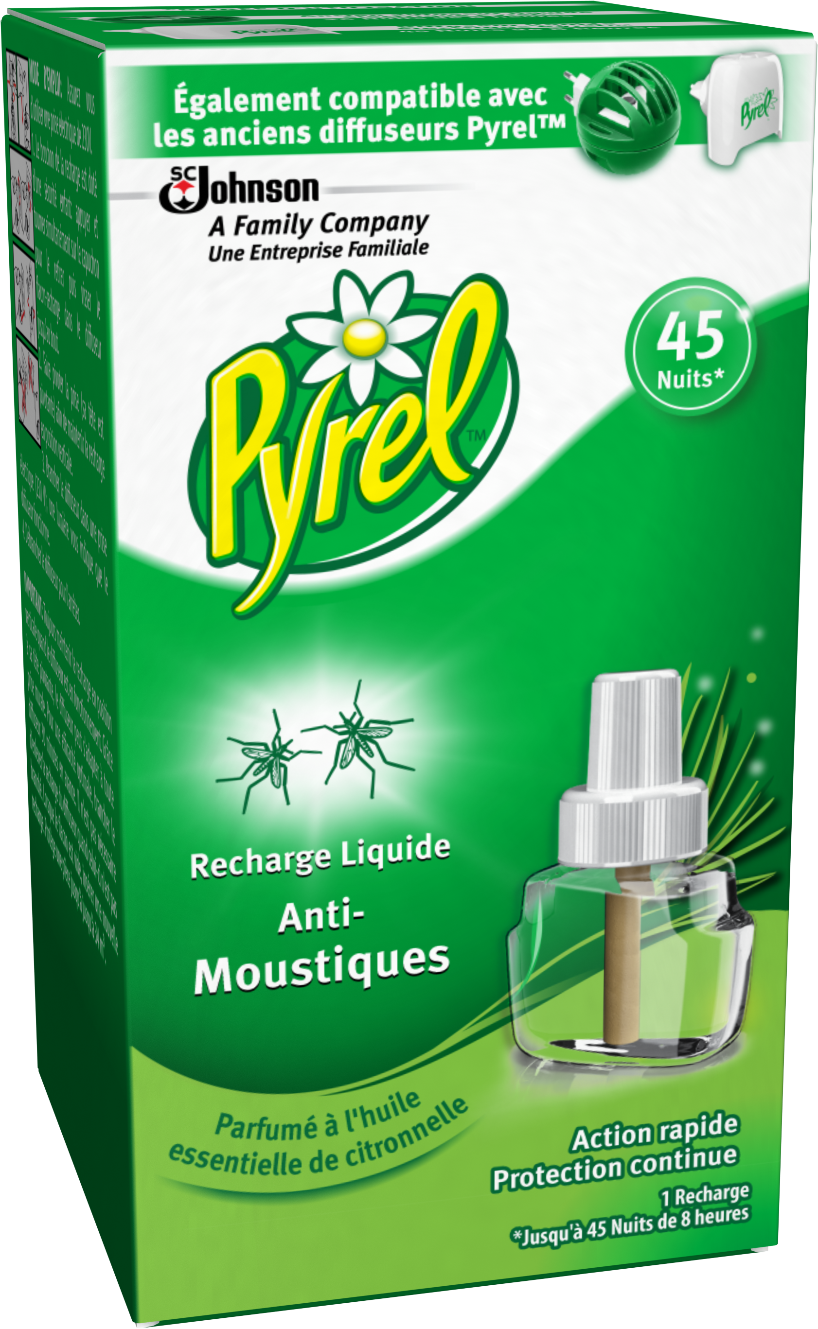Pyrel® électrique Liquide Anti Moustiques, Parfumé à Lu0027huile Essentielle De  Citronnelle, 1 Recharge
